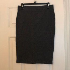 Grey cotton pencil skirt